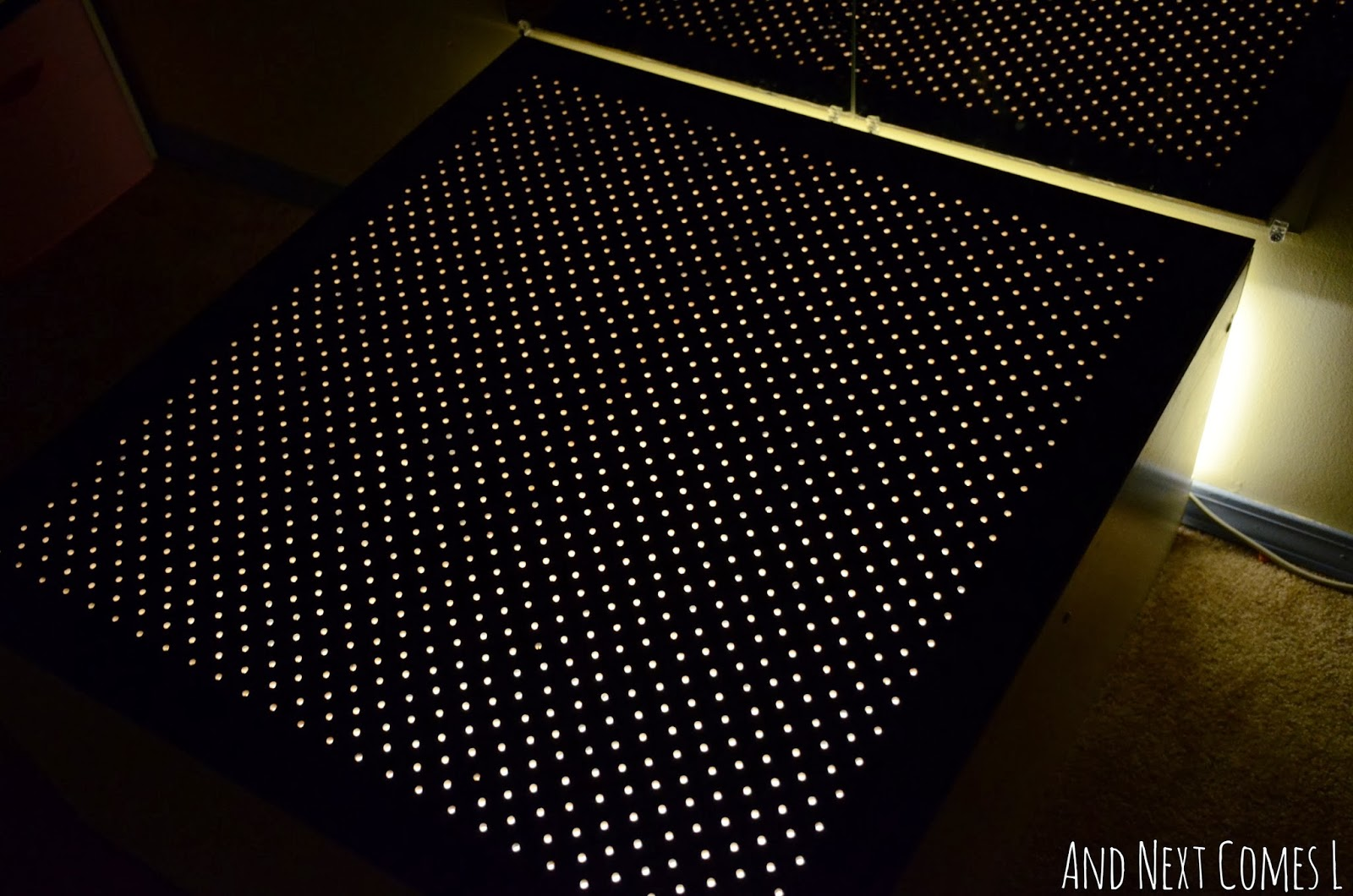 Homemade light bright tabletop for the light table from And Next Comes L