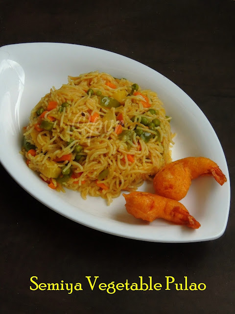 Vermicelli Vegetable Pulao/Semiya Pulao