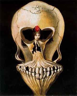 Salvador Dalí bailarina calavera