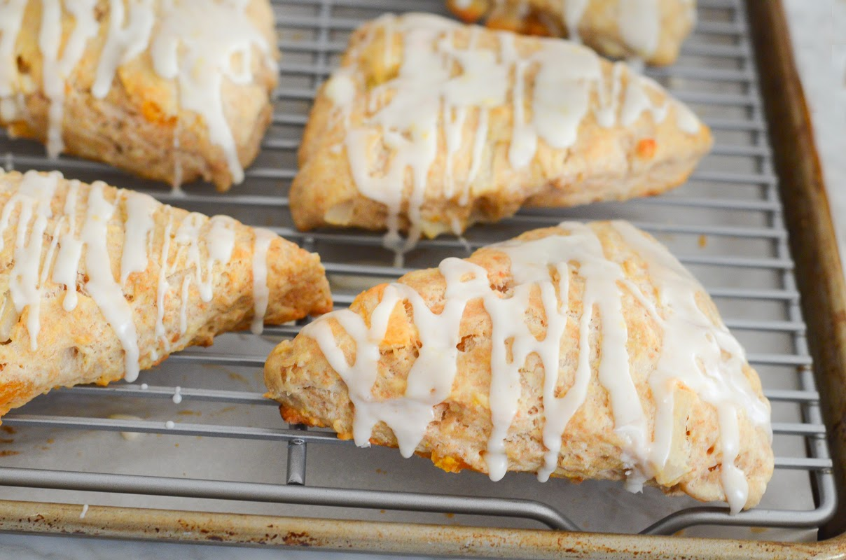 Luci's Morsels: Apricot, Coconut, and Ginger Scones