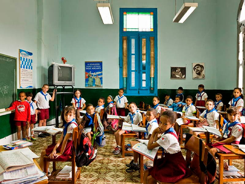 An Eye-Opening Look Into Classrooms Around The World - Cuba, Escuela Primaria Angela Landa, Old Havana