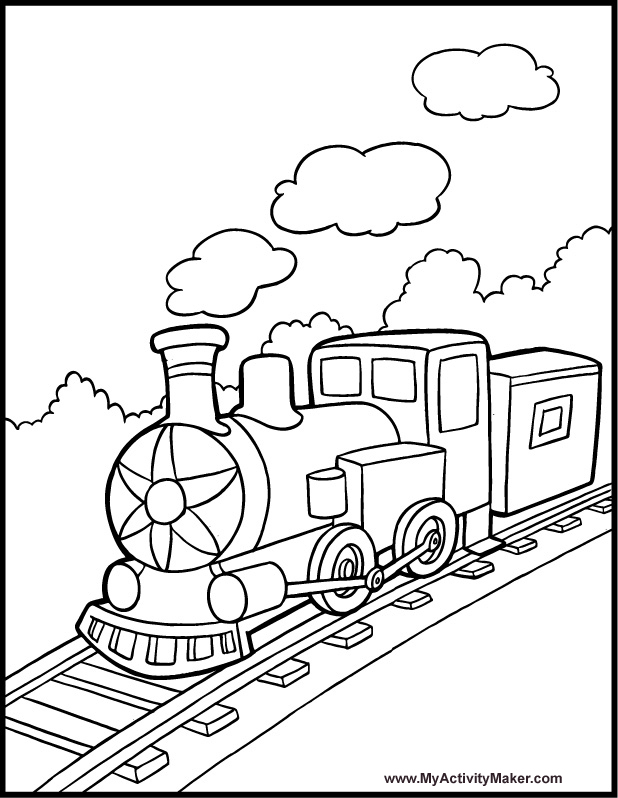 do you love train here is train coloring pages for young children title=