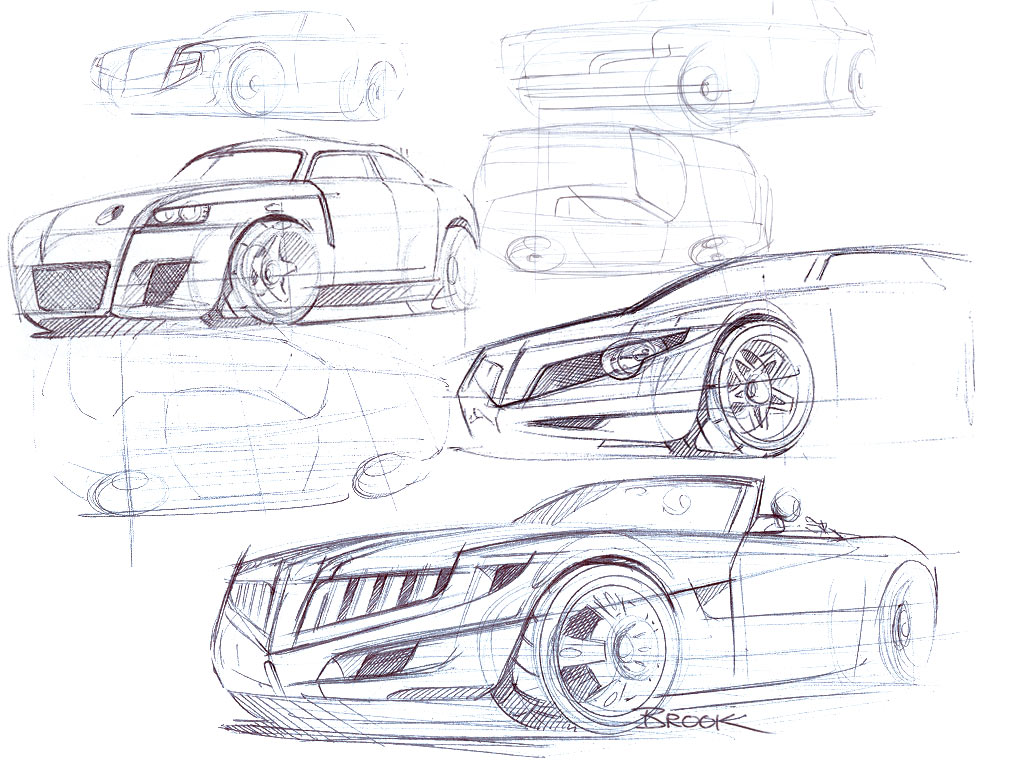 Cars By Dk Typical Car Sketches