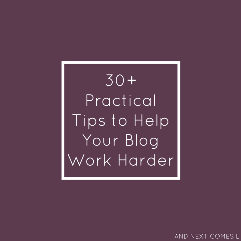 30 practical tips to help your blog work harder and next comes l - Practical tips to make money from gardening ...