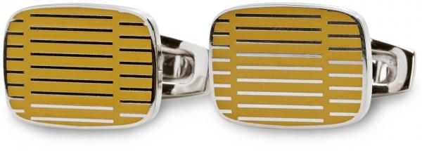 Salvatore Ferragamo的金色袖扣