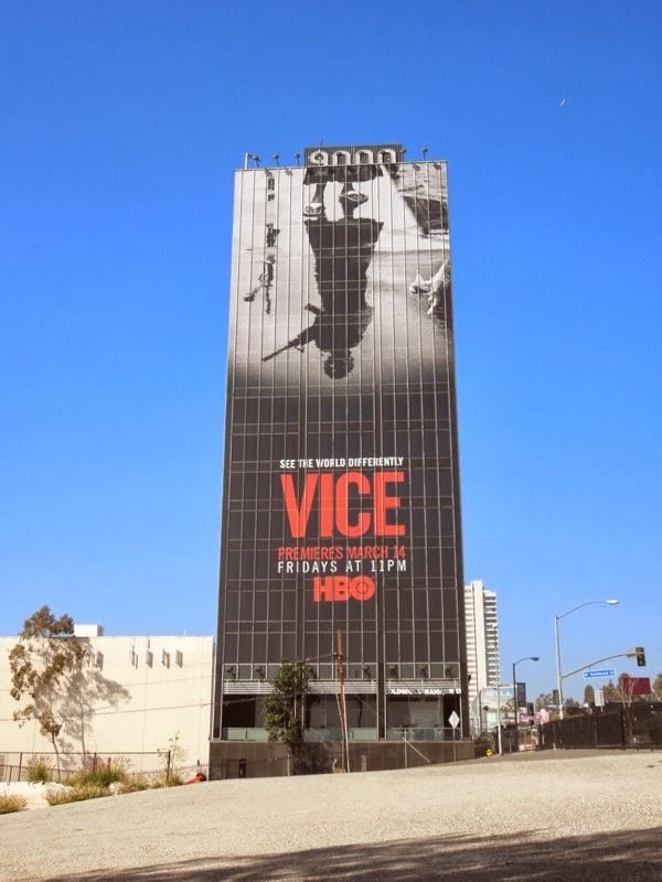 Giant Vice season 2 billboard Sunset Strip