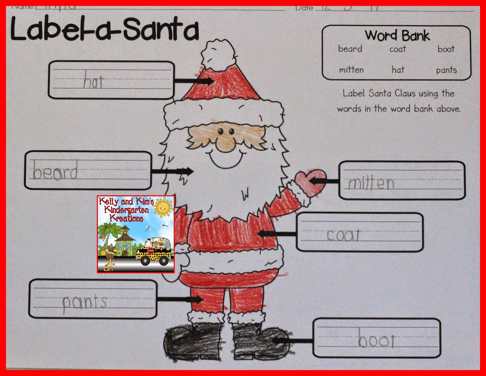 Kelly and kims kreations unwrap a gift linky party a word bank is included to help the children match the words and spell them correctly this is a good activity to reinforce coloring writing spiritdancerdesigns Image collections