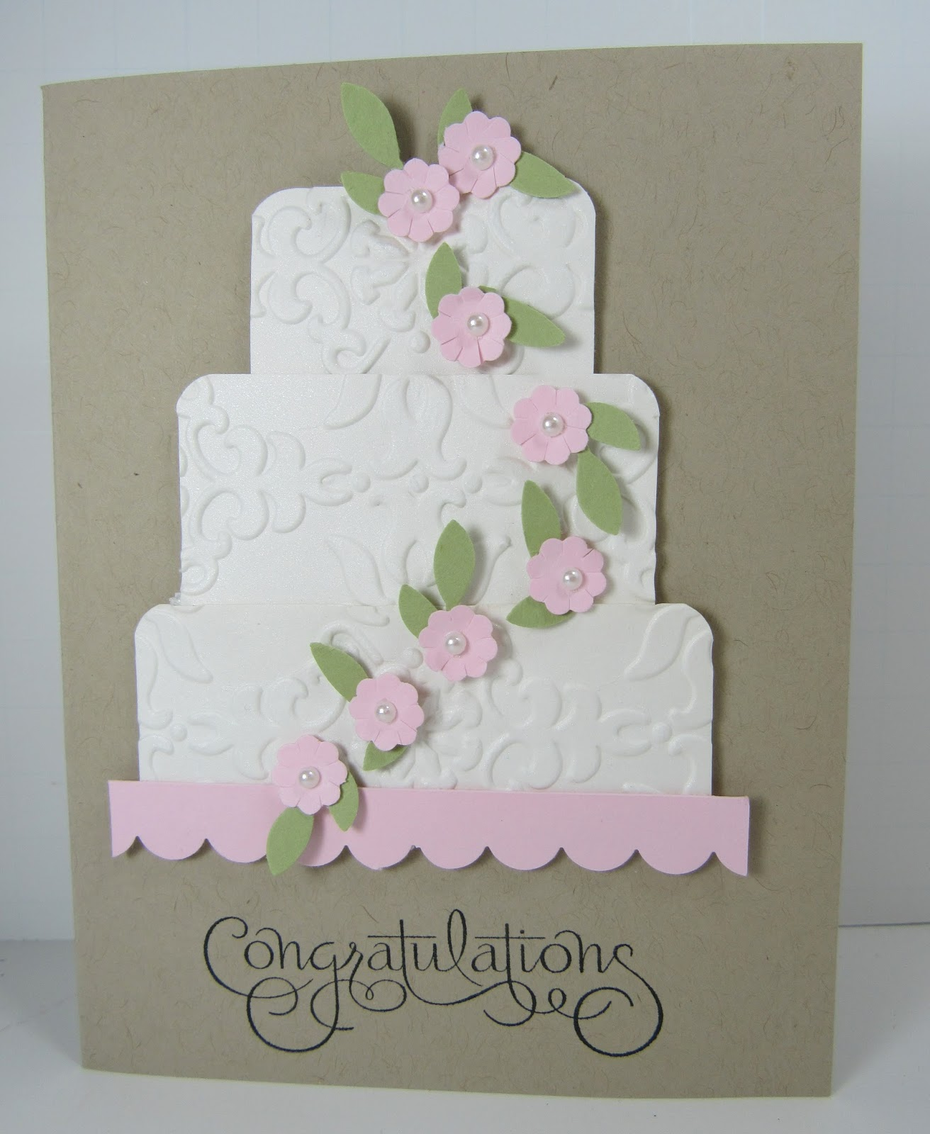 Personally Yours Stampin Up Wedding Cake Card