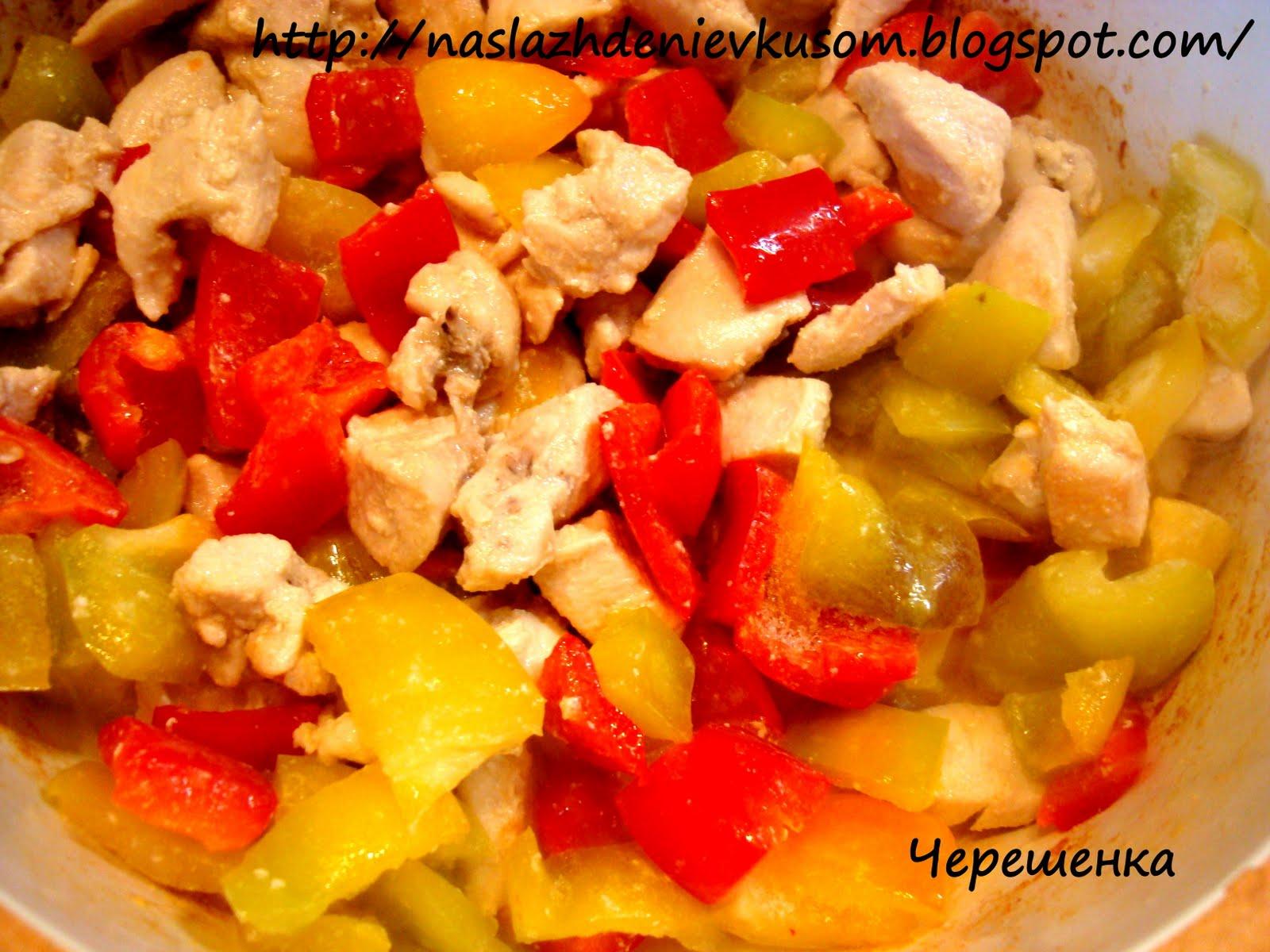 Рагу с курицей и овощами в духовке рецепт