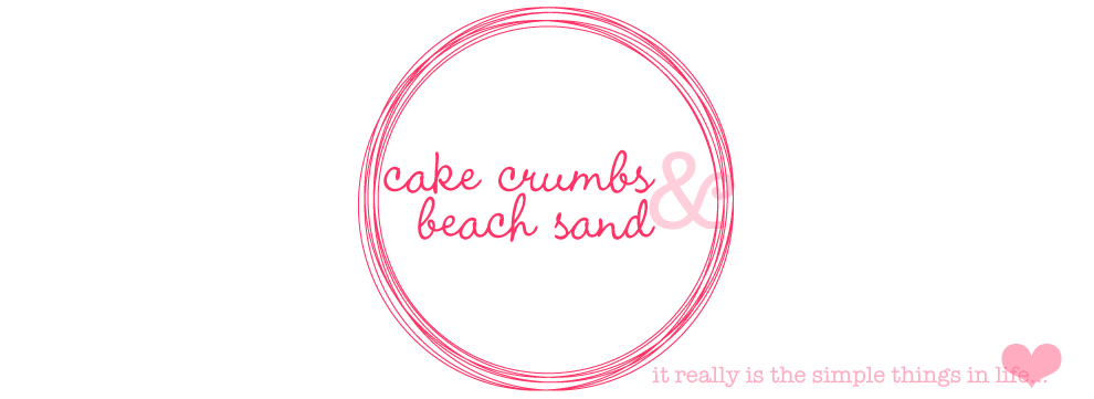 cake crumbs & beach sand