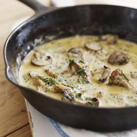 Mushroom Onion & Garlic Cream Pasta Sauce Recipe