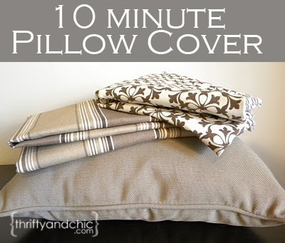 10 minute 'sew' easy pillow cover