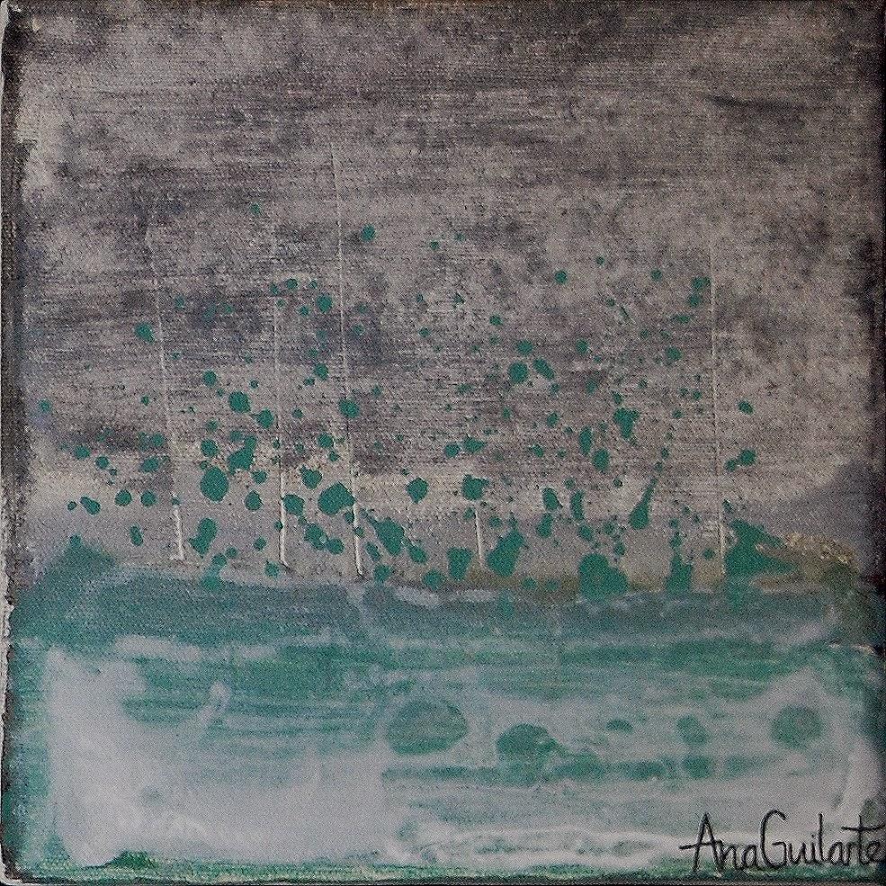 156. UNTITLED. Framed. 25x25cm Sold/Vendido