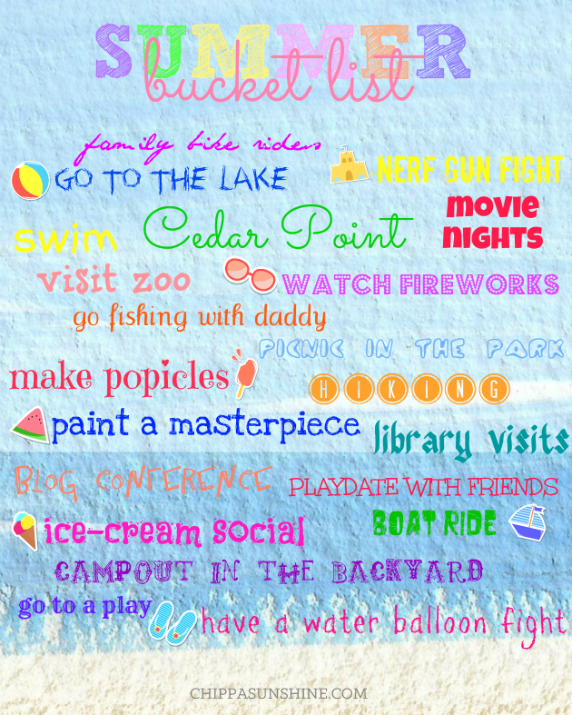 Summer Bucket List 2014 | ChippaSunshine