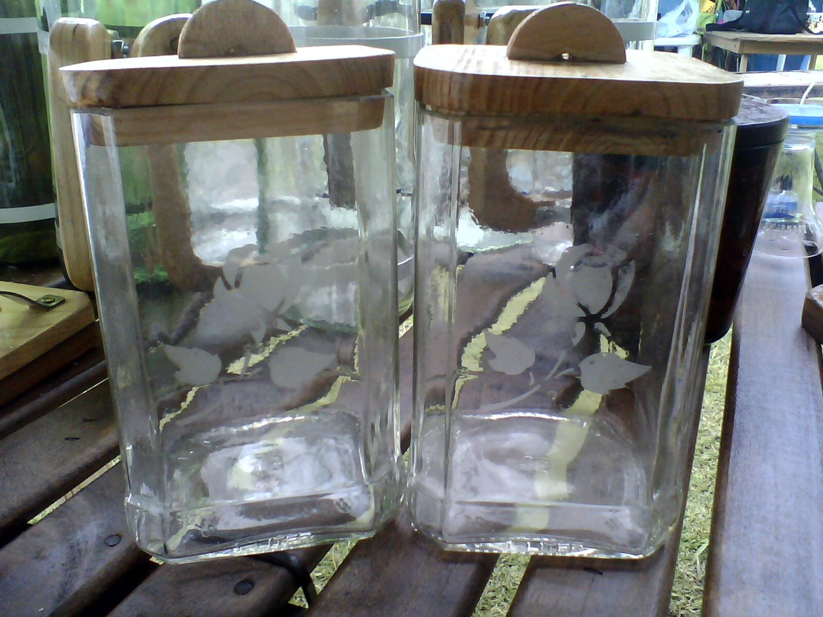 Reciclado de botellas y artesanias: Azucareras con botellas de vidrio