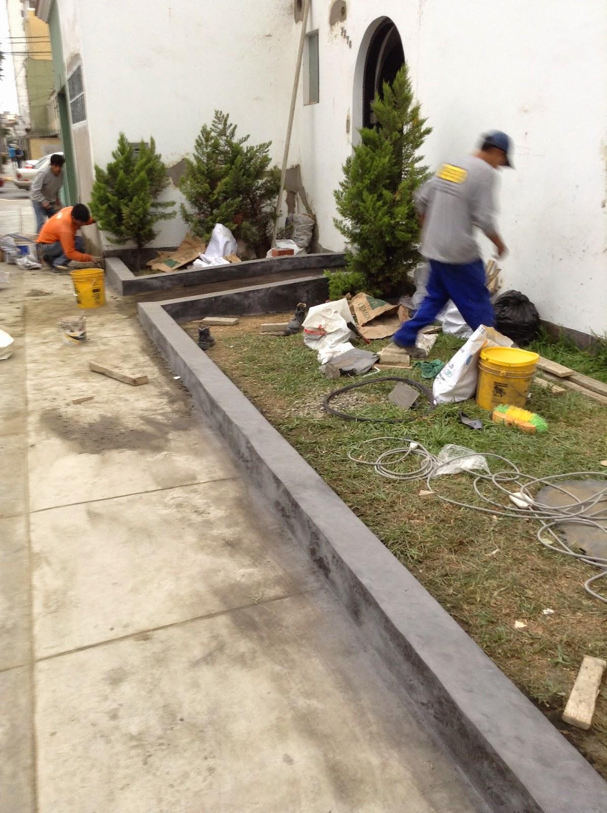 Increte per systems rampa y sardineles con concreto - Jardineras de cemento ...