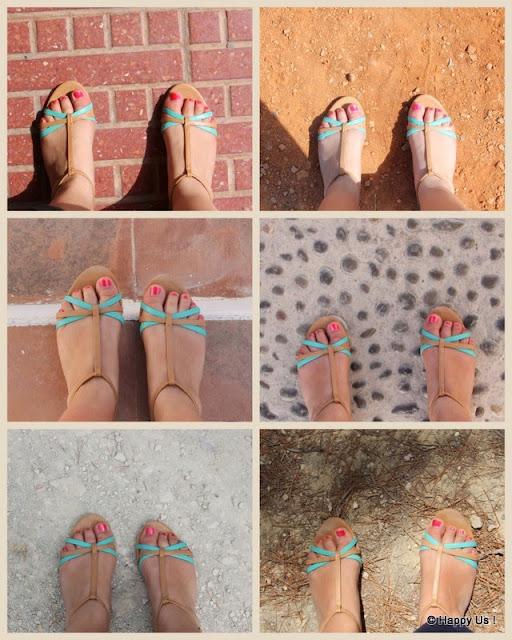 Les aventures des sandales bleues