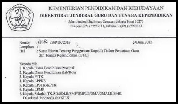 Download Surat Edaran Penggunaan Dapodik Dalam Pendataan