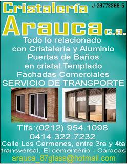 CRISTALERIA ARAUCA, C.A. en Paginas Amarillas tu guia Comercial