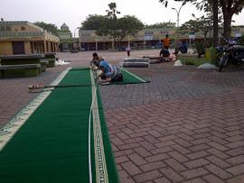 Proses penyambungan sesuai ukuran masjid