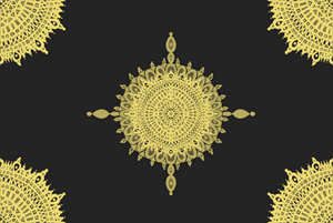 The Golden Sun Pattern  by Haidi Shabrina