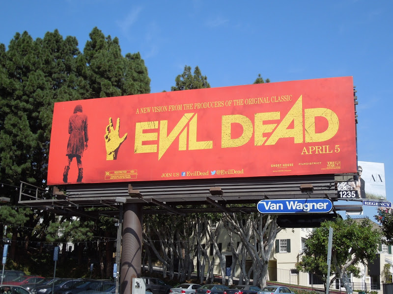 Evil Dead movie remake billboard