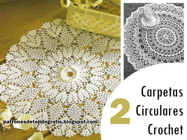 Patrones de carpetas circulares para tejer al crochet