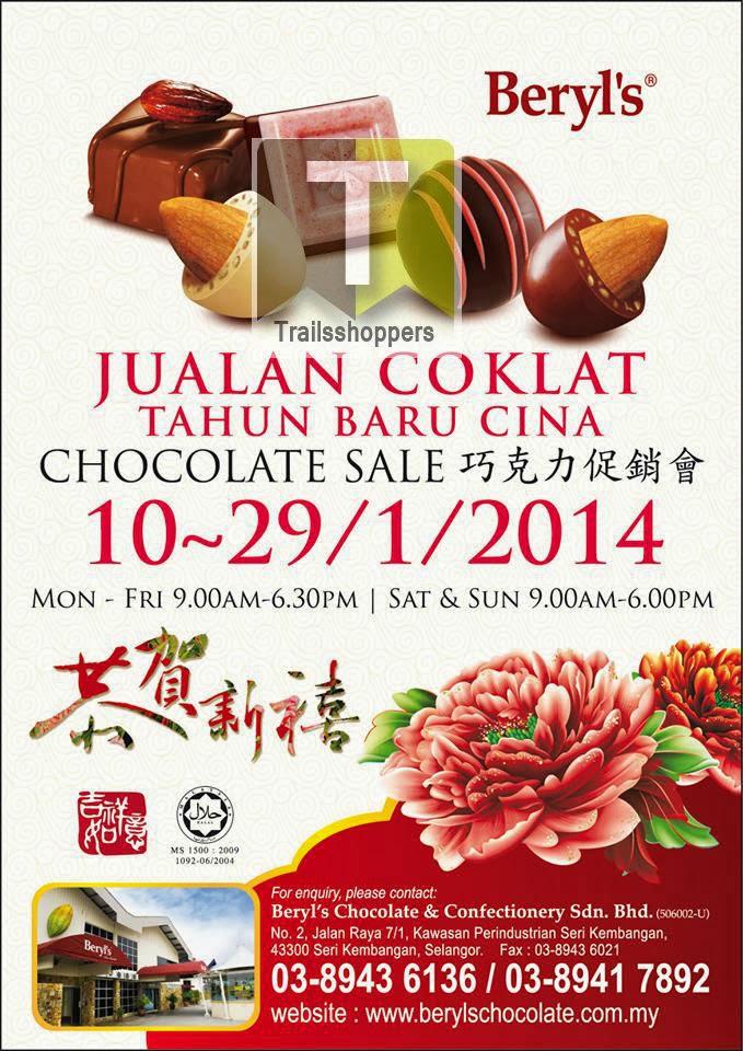 Beryls Chinese New Year Chocolate Sale 2014