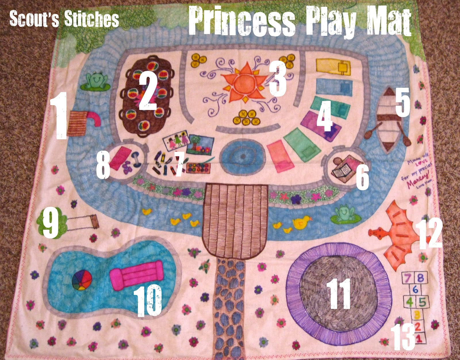 Play mat for girls