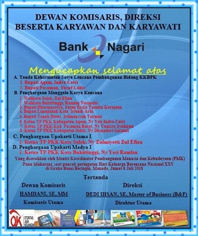 Iklan Ucapan Bank Nagari