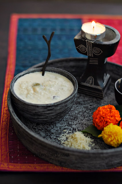 narkel die chaler payes (indian rice pudding with coconut)