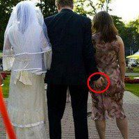 Picture Of The Day..The Faithful Bride Groom