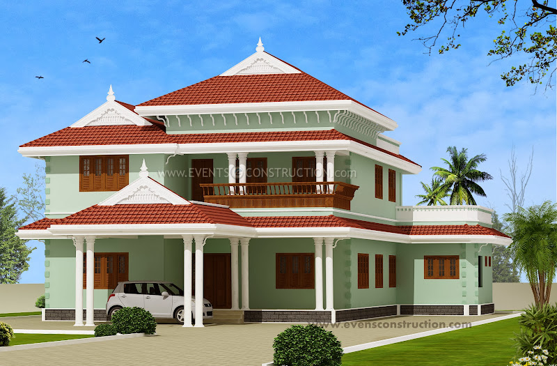 255 square meter Kerala model house design title=
