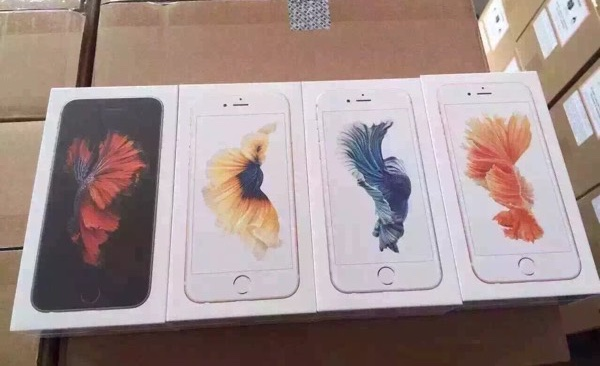 Embalagem dos novos iPhones 6s