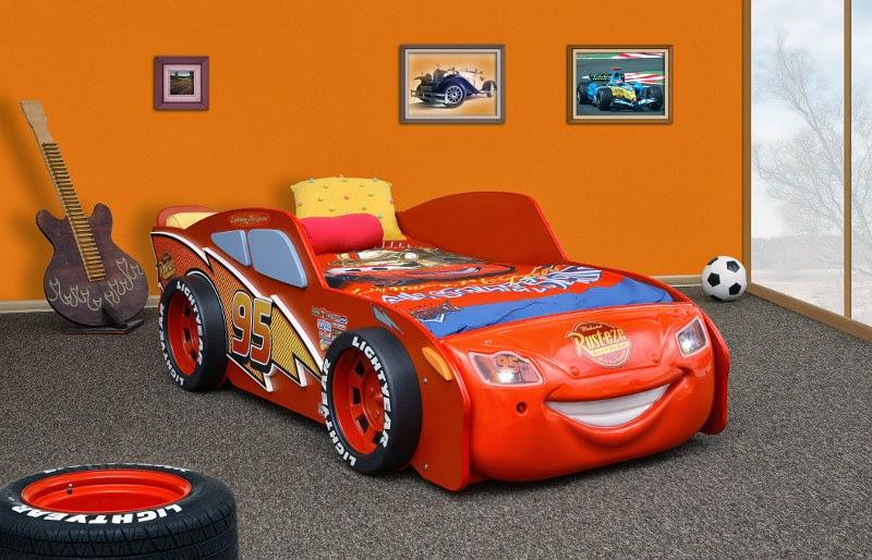 Camere per bambini letto a tema cars 2 saetta mcqueen a forma di auto disney cars macchina letto - Letto bambino macchina ...