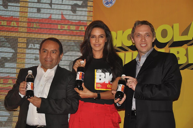 neha dhupia at the new logo launch of cola brand big cola. latest photos
