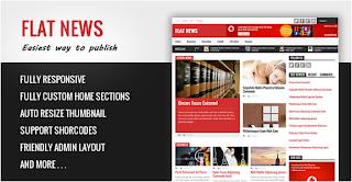 Flat News - News & Magazine templat for Blogger