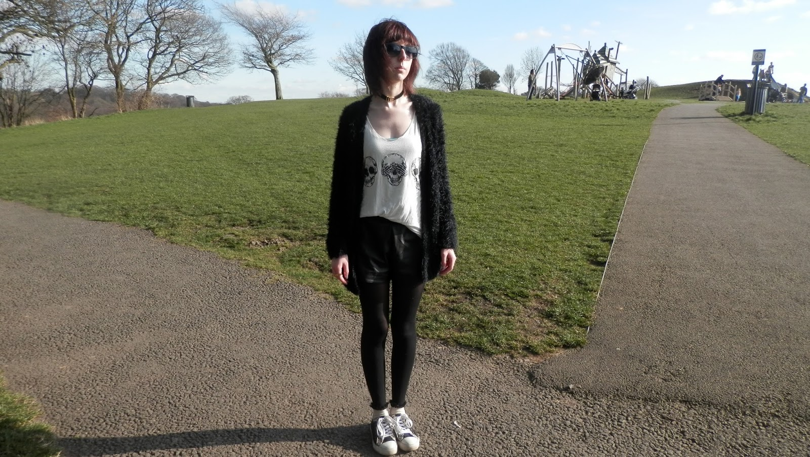 Black and White Outfit, Jstye, streetstyle, love choker, ootd, wiwt, skulls, jfashion