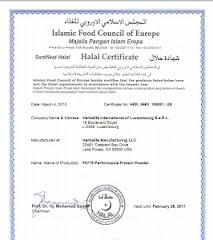 Sijil Halal Herbalife 2