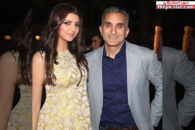 مريم سعيد مع الاعلامي والكوميدي المصري باسم يوسف