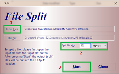 Cara Memecah File Dengan HJSplit