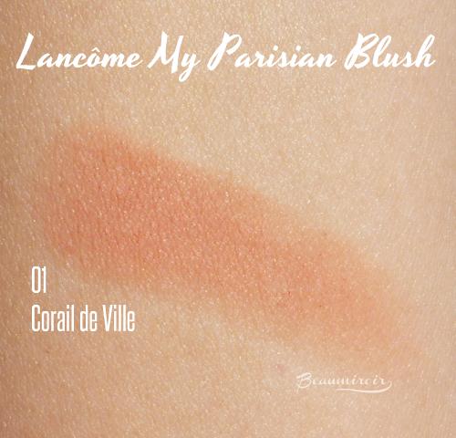 Lancome My Parisian Blush in Corail de Ville: swatche