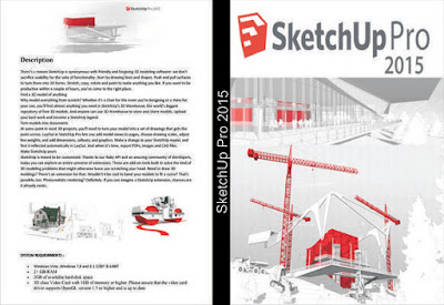 SketchUp Pro Português-BR x64-Bit2015 DVD Capa