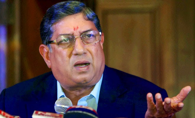 Srinivasan wants SC to be re-elect him as BCCI President