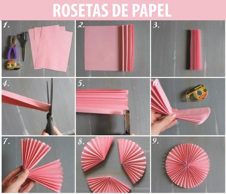 Imagenes fantasia y color como hacer rosetas de papel - Como hacer cadenetas de papel para fiestas ...