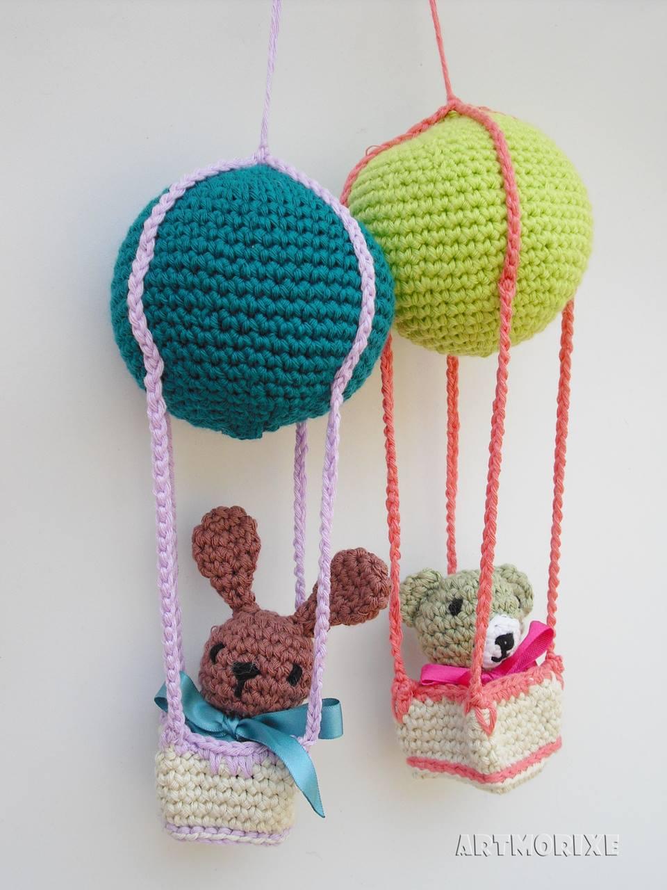 Artmorixe labores y manualidades globos aerost ticos for Decoracion del hogar con crochet