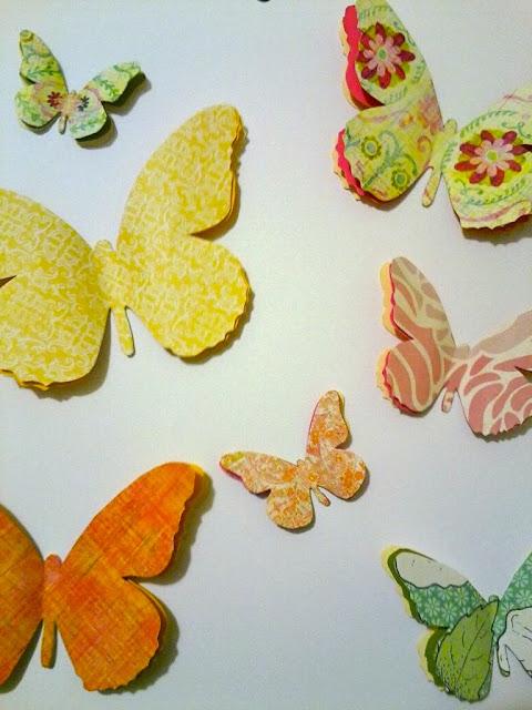 3D paper butterflies