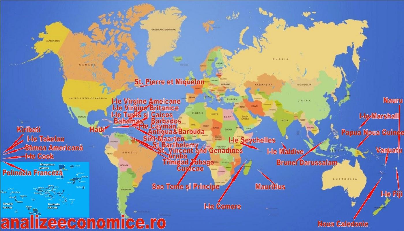 Exporturile fictive ale României în insule exotice