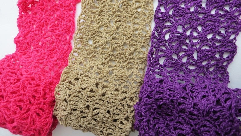 Alana Lacy Scarf Free Crochet Pattern Mother's Day Baby Crochet Hats Patterns