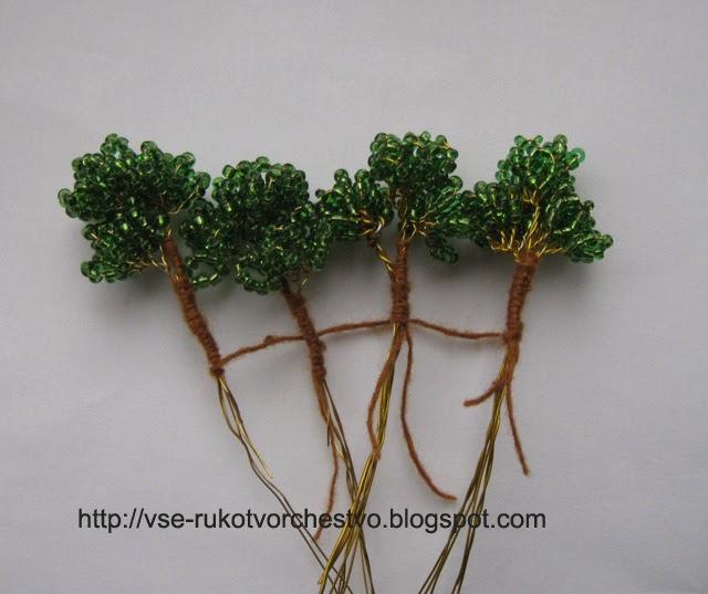 Дерево бонсай из бисера мастер класс своими руками